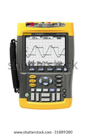 industrial scopemeter - stock photo