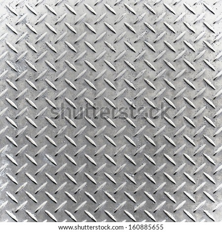 Industrial shiny metal silver list with rhombus shapes - stock photo