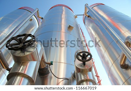 Industrial Silos - Power Plant - stock photo
