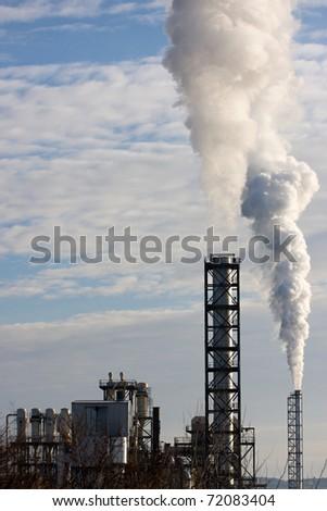 Industrial smoke - stock photo