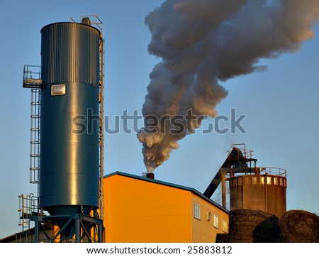 Industrial smoke - small refinery polluting a lot