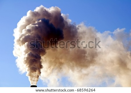 Industrial smoker - stock photo