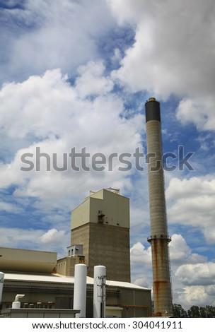 Industrial smokestack - stock photo