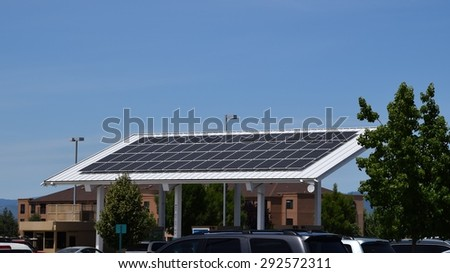 industrial solar panel - stock photo
