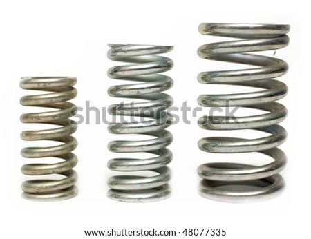 industrial springs - stock photo