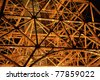 Industrial steel structure - stock photo