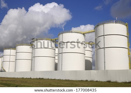 Industrial  Storage Tanks - stock photo