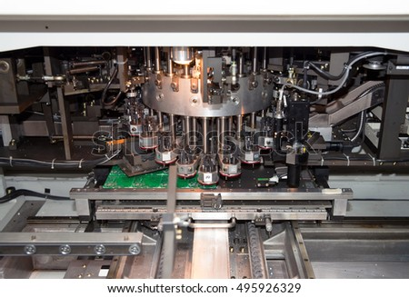Industrial system for the production of integrated circuits.