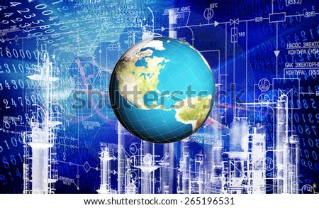 Industrial  technology - stock photo