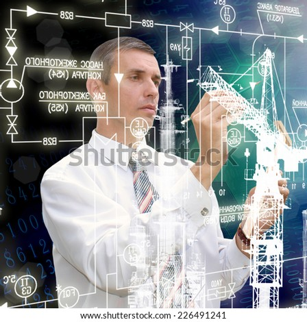 Industrial technology.Construction - stock photo