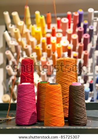 industrial textile threads - stock photo