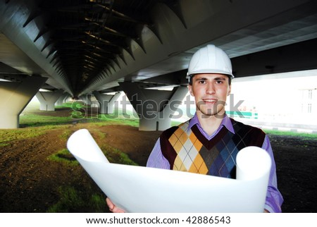 Industrial theme: architect. - stock photo