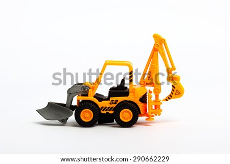 Industrial Toy Dump Truck on white background