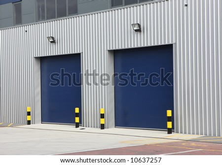Industrial Unit with steel roller shutter doors
