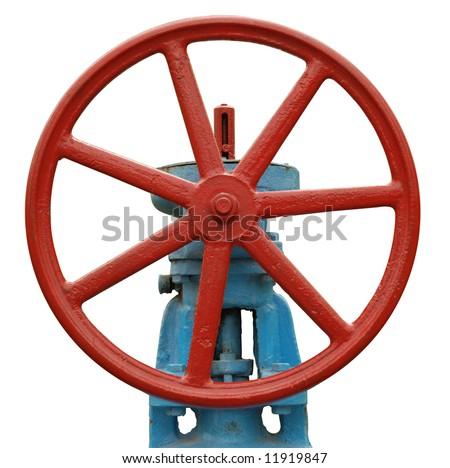 Industrial valve - stock photo