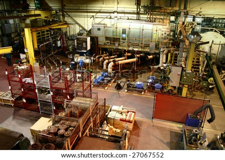 Industrial view of a major heavy metal fabricator and assembler - stock photo