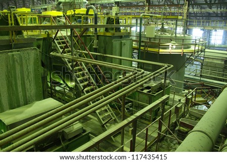 Industrial view (stairs and pipes)