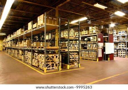 Industrial Warehousing. - stock photo