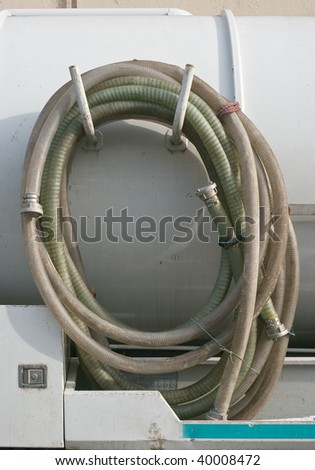 Industrial Waste Removal Pump with Coiled Hose