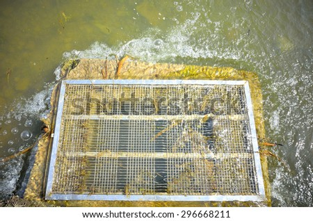 Industrial wastewater discharge - stock photo