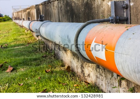 industrial water pipe line - stock photo