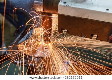 Industrial welding automotive in thailand - stock photo