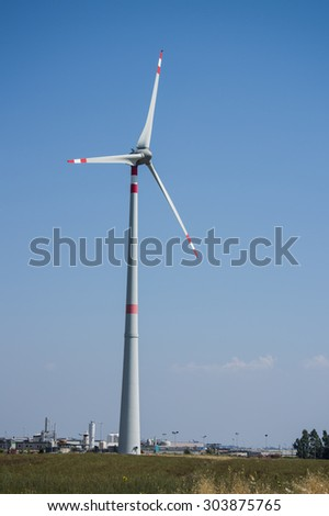 Industrial wind turbine in Tuscany.