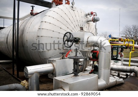 Industries of gas refining - stock photo