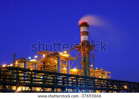 industry at night - stock photo