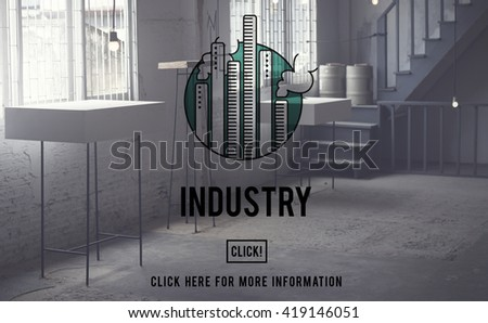 Industry Buildings General Business Enterprise Concept - stock photo
