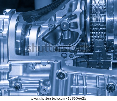 industry car engine detail - stock photo