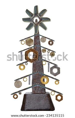 Industry Christmas tree - stock photo