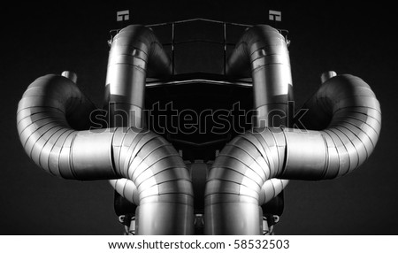 industry gas and oil systems - stock photo