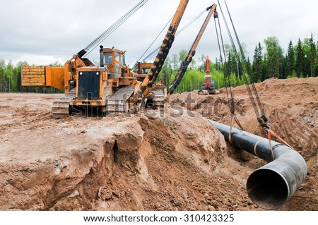 Industry gas(oil) pipeline construction site