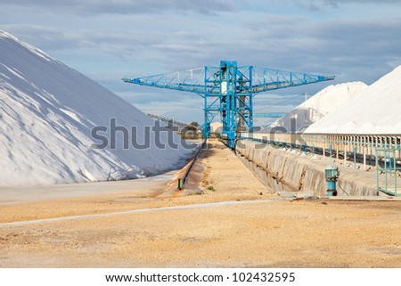industry of manufacture and storage of salt