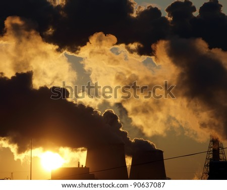 Industry pollution - stock photo