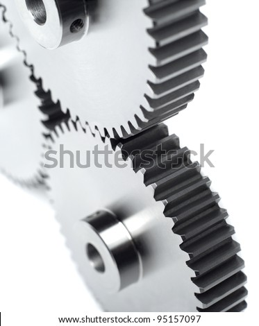 Industry wheels with selective focus - stock photo