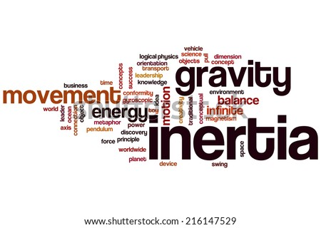 Inertia concept word cloud background - stock photo