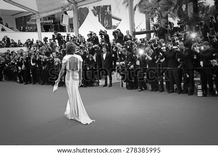 Ines de La Fressange attends the Premiere of 'Irrational Man' during the 68th annual Cannes Film Festival on May 15, 2015 in Cannes, France. - stock photo