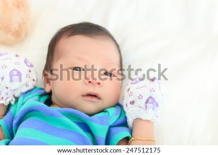 infant ,baby new born, - stock photo