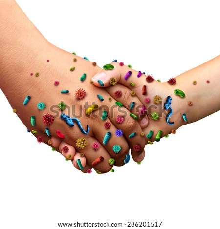 Infectious Diseases Spread Hygiene Symbol People Stockillustratie