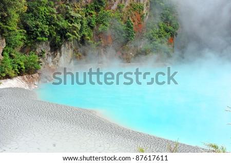 Inferno Crater at Waimangu Volcanic Valley, Rotorua, New Zealand - stock photo