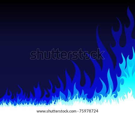 Inferno fire background for design use - stock photo