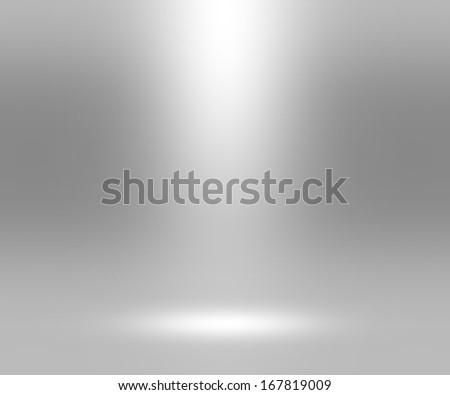 Infinite White Floor Spotlight - stock photo