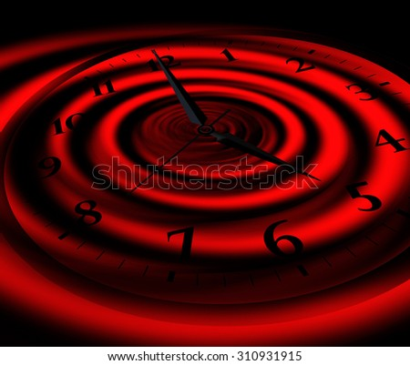 infinity abstract clock - stock photo
