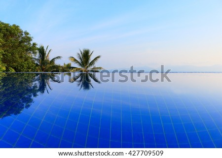 infinity pool - stock photo