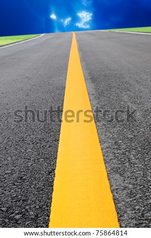 Infinity road - stock photo