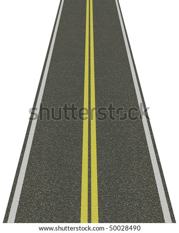 Infinity road isolated on white