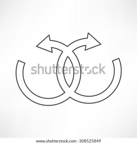 infinity sign - stock photo
