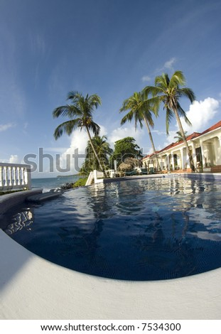 infinity swimming pool resort big corn island nicaragua central america